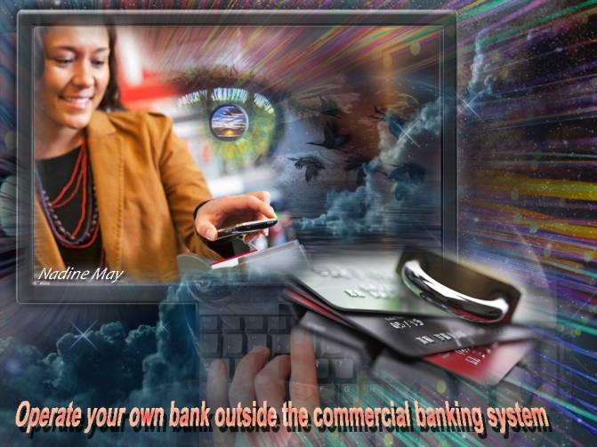 your own bank outside the commercial banking system