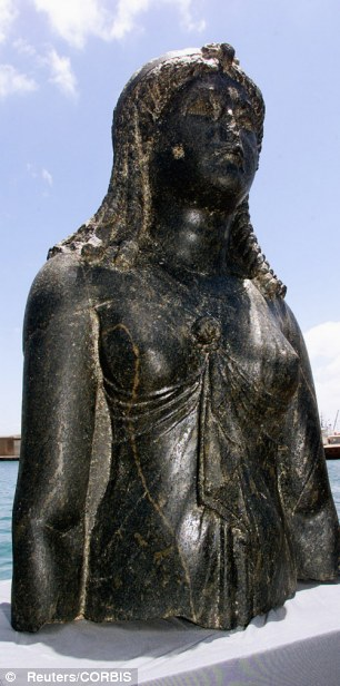 statue of the Egyptian goddess Isis